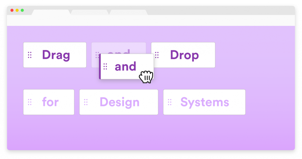 Drag-and-drop interface