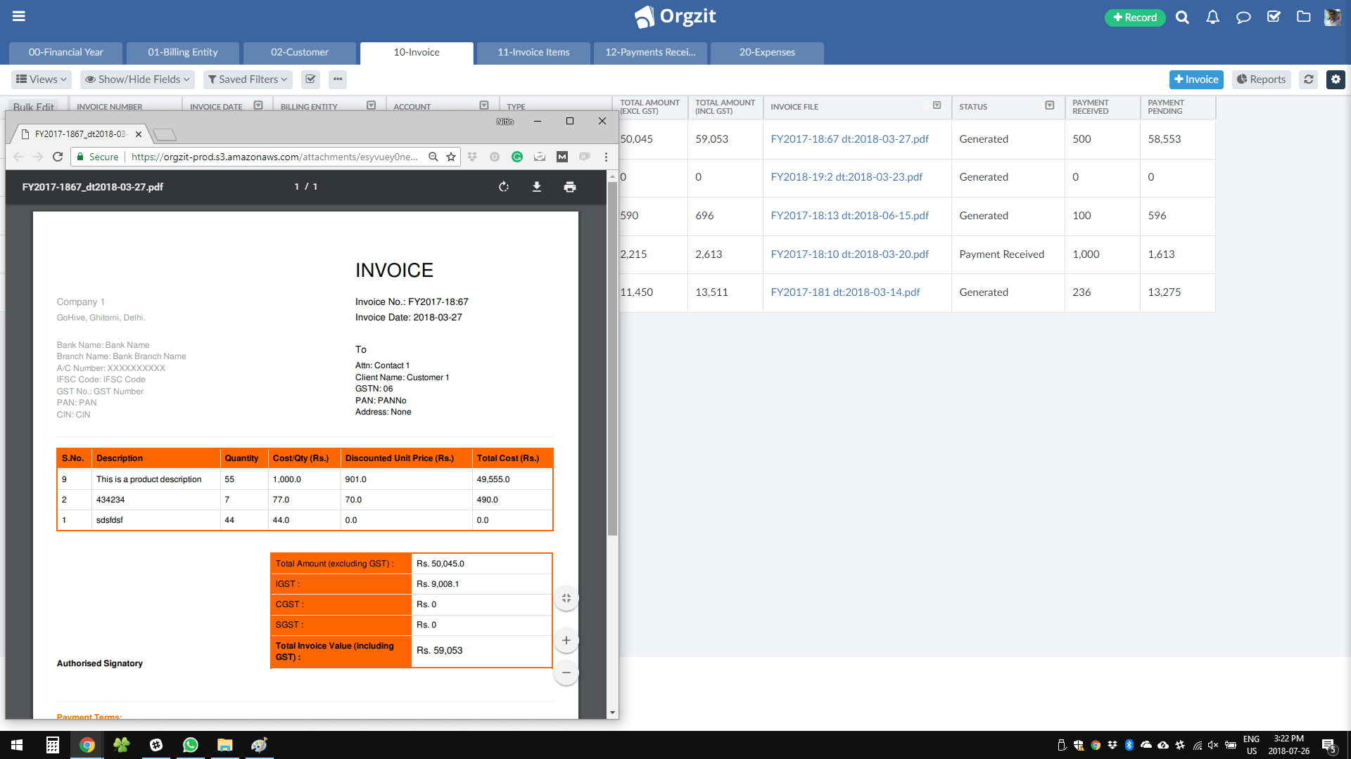 Orgzit Automate Document
